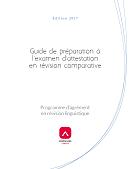 Guide de préparation à l'examen d'attestation en révision comparative