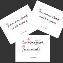 Aimant : Je ne suis pas obsédé. Je suis réviseur(e).